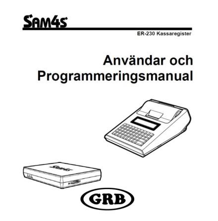Manual Sam4s ER230