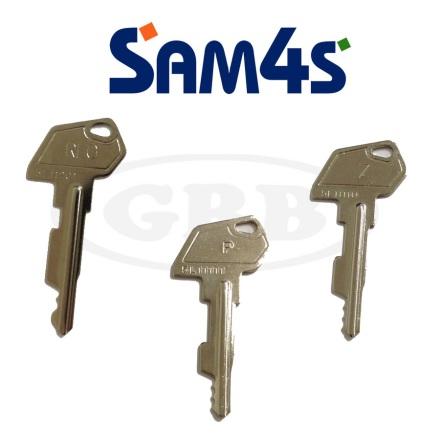 Nyckelsats Sam4s kassaregister