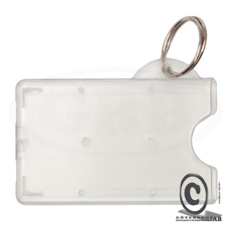 Skyddsficka nyckelring transparent