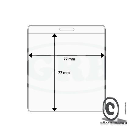 Plastficka, 77x77 mm
